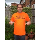 Isaac Sarayiah Sporting his T-Shirt in Golden Orange :-)x